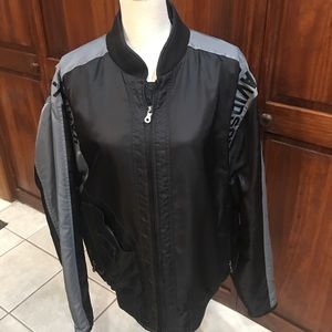 Men's EUC M Harley Black Grey Bar Shield Jacket